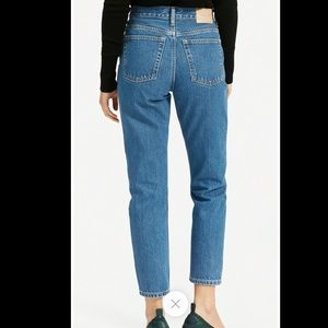 Everlane 90s Cheeky Straight High Rise Blue Jeans